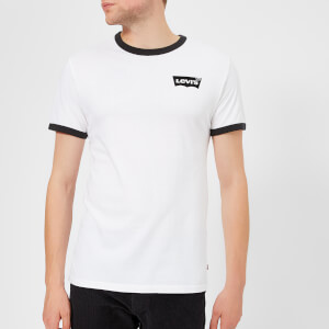 Levi's Men's Housemark Short Sleeve T-Shirt - White/Black