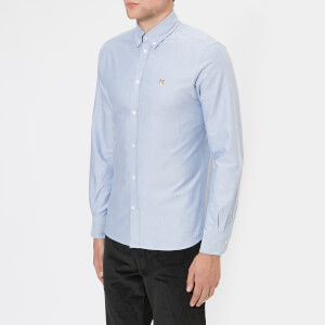 Maison Kitsuné Men's Fox Head Oxford Shirt - Navy