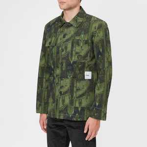 Maison Kitsuné Men's Dream Amplifier Worker Jacket - Khaki Print