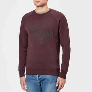 Maison Kitsuné Men's Palais Royal Crew Sweatshirt - Burgundy