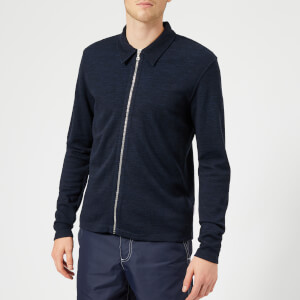 Orlebar Brown Men's Brendon Merino Zip Through Cardigan - Navy