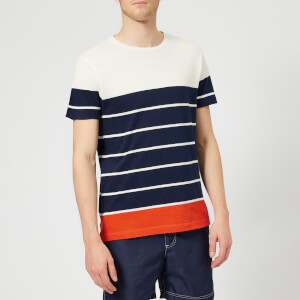 Orlebar Brown Men's Sammy Stripe Block T-Shirt - Navy/Cloud/Hacienda