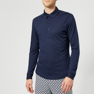 Orlebar Brown Men's Sebastian Merino Polo Shirt - Navy