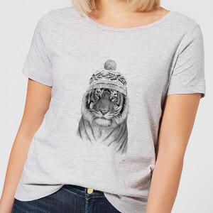 Balazs Solti Winter Tiger Women's T-Shirt - Grey