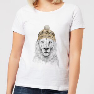 Lion With Hat Women's T-Shirt - White