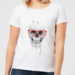 Skull And Glasses Women's T-Shirt - White