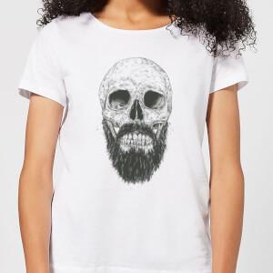 Bearded Skull Women's T-Shirt - White