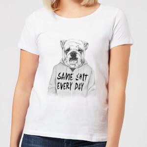 Balazs Solti Same Shit Every Day Women's T-Shirt - White