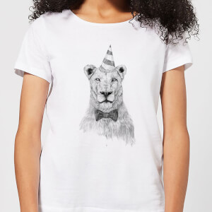 Balazs Solti Party Lion Women's T-Shirt - White
