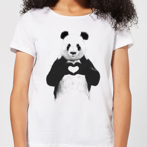 Balazs Solti Panda Love Women's T-Shirt - White