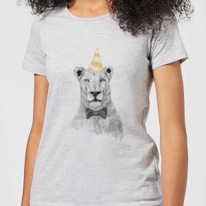 Balazs Solti Party Lion Women's T-Shirt - Grey