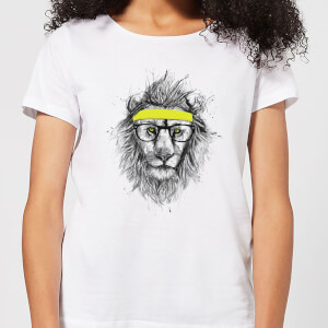 Balazs Solti Lion And Sweatband Women's T-Shirt - White