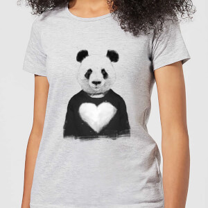 Balazs Solti Panda Love Women's T-Shirt - Grey