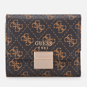 Guess Women's Mia Small Trifold Purse - Brown