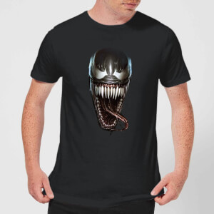 Venom Face Photographic T-shirt - Zwart