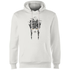 Balazs Solti Native Girl Hoodie - White