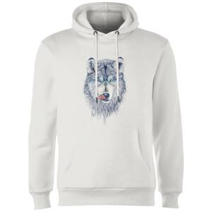 Balazs Solti Wolf Eyes Hoodie - White