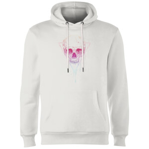 Balazs Solti Colourful Skull Hoodie - White