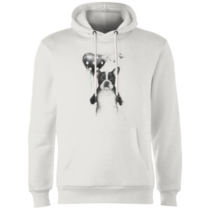 Balazs Solti Bulldog And Balloon Hoodie - White