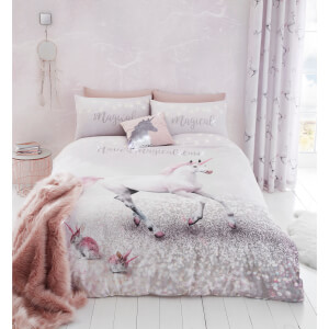 Catherine Lansfield Enchanted Unicorn Duvet Set - Pink