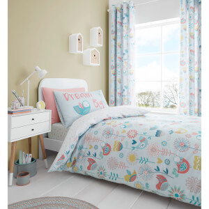 Catherine Lansfield Little Birds Duvet Set - Pastel