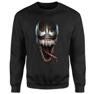 Venom Face Photographic Sweatshirt - Black