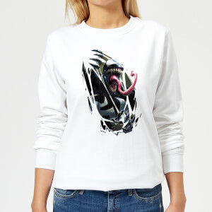 Venom Chest Burst Women's Sweatshirt - White