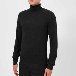 Maison Margiela Men's Elbow Patch 12 Gauge Roll Neck Jumper - Charcoal