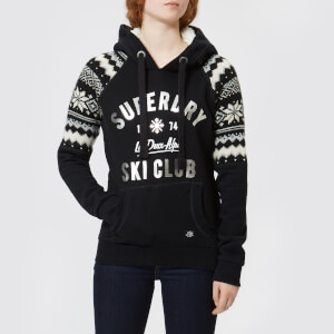 Superdry Women's Dakota Fairisle Hooded Sweatshirt - Monochrome
