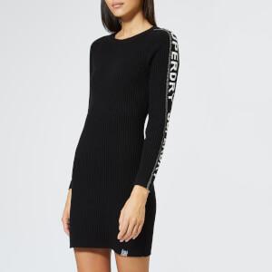 Superdry Women's Urban Street Sleeve Logo Dress - Black