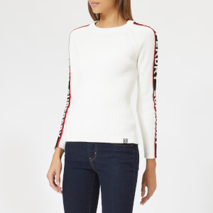 Superdry Women's Urban Street Sleeve Logo Jumper - Cream