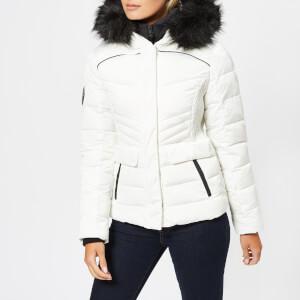 Superdry Women's Glacier Biker Jacket - White