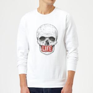 Balazs Solti Life Skull Sweatshirt - White
