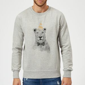 Balazs Solti Party Lion Sweatshirt - Grey