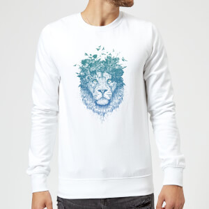 Balazs Solti Lion And Butterflies Sweatshirt - White