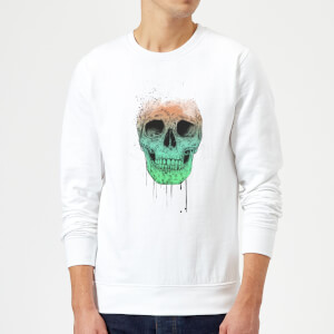 Balazs Solti Skull Sweatshirt - White