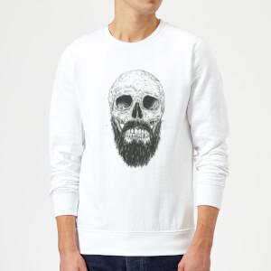 Bearded Skull Sweatshirt - White