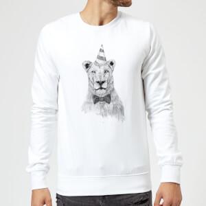 Balazs Solti Party Lion Sweatshirt - White