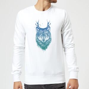 Balazs Solti Wolf Sweatshirt - White