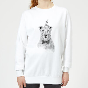 Party Lion Women's Sweatshirt - White