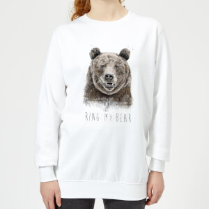 Ring My Bear Women's Sweatshirt - White