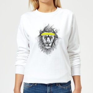 Lion And Sweatband Women's Sweatshirt - White