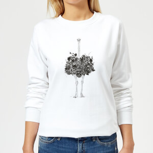 Ostrich Women's Sweatshirt - White