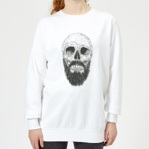 Bearded Skull Women's Sweatshirt - White