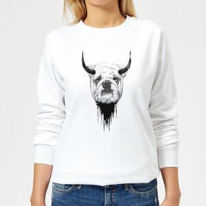 English Bulldog Women's Sweatshirt - White