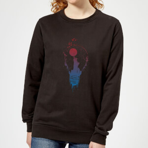 NYC Moon Women's Sweatshirt - Black