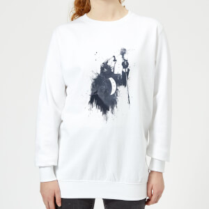 Singing Wolf Women's Sweatshirt - White