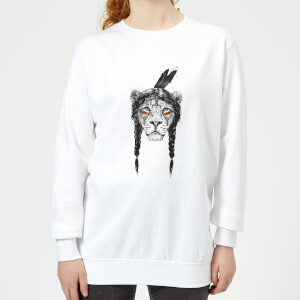 Native Lion Women's Sweatshirt - White
