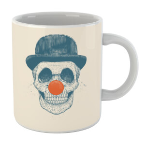 Red Nosed Skull Mug