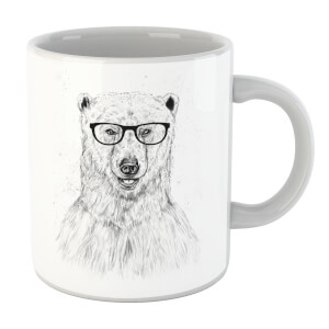 Balazs Solti Polar Bear And Glasses Mug